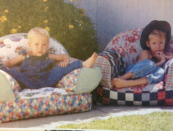 Mccall 39 s 9665 sewing pattern kids overstuffed chair child for Kids overstuffed chair