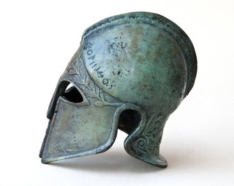 Bronze Metal Helmet, Ancient Greek Corinthian Helmet, War Helmet, Bronze Metal Sculpture, Museum Art Replica, Greek Art Decor, Unique Gift