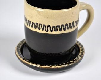 Ceramic Pottery Coffee Mug, Tea Mug, Coffee Cup, Steeper Mug, Wheel thrown