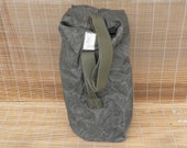 Vintage Distressed Washed Out Olive Green Canvas Duffel Bag Backpack