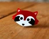 Red Panda Brooch - Cute Panda Brooch - Badge - Animal Brooch - Acrylic Brooch - Panda badge - Handmade Brooch - Cute Brooch
