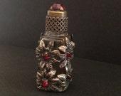 Antique - PERFUME BOTTLE - Bejeweled - Floral Motif