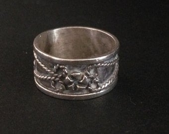 Vintage TAXCO - Sterling SILVER BAND - Friendship Ring - Pinky Ring
