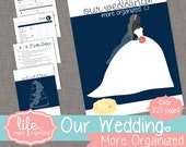 Our Wedding. More Organized. - Complete Wedding Planner INSTANT DOWNLOAD - Navy Blue