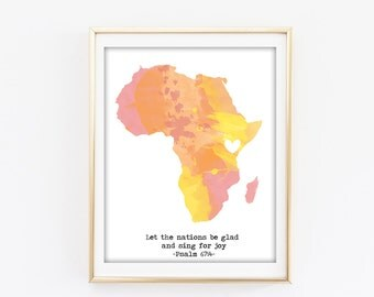 Africa-Kenya Print with Psalm 67:4