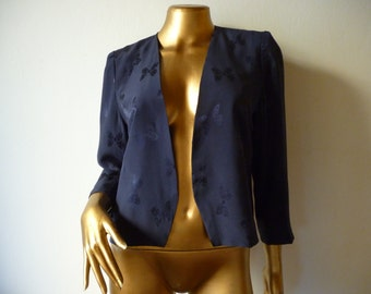 50% OFF Vintage silk jacket 80's does 40's