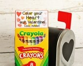 Color Your Heart Out, Valentine Top Tag Printable