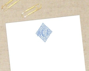 Molly Personalized Stationery Set - Flat Note Cards