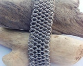 Unisex Stainless Steel Dragonscale Cuff  - Ready to Ship - Fast Shipping