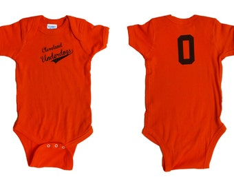 Cleveland Underdogs - Orange and Brown Baby One-Piece