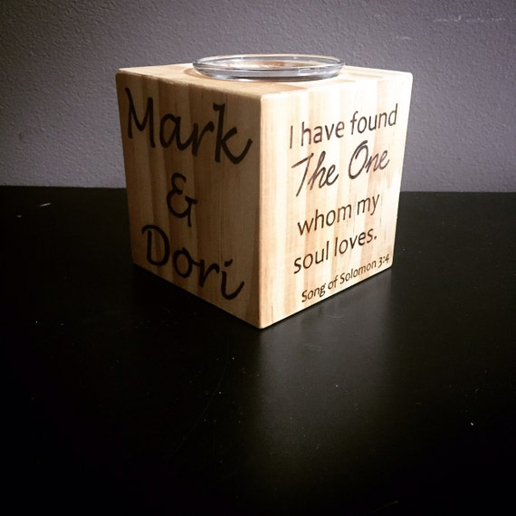 Wedding Gift Candle Holders : Personalized Candle Holder **Wedding Gift** **Anniversary Gift**