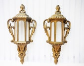 Wall sconce planter lantern style french shabby vintage molded plastic paintable