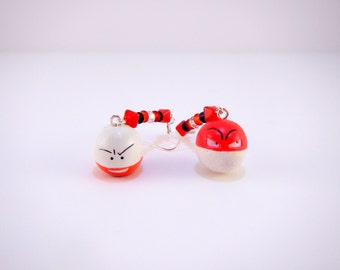 Voltorb and Electrode Pokemon Earrngs -Jewelry