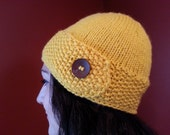 Yellow Button Flap Hat