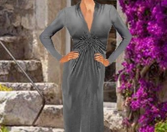 Maxi Length Dress Twisted Knot Center  Made To Order