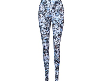 Winter SALE -20%  Leggings with crushed mirror pattern, made from organic cotton