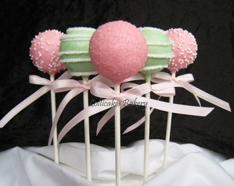 Baby Shower Party Favors, Cake Pops Made to Order with High Quality Ingredients, 1 Dozen Cake Pops