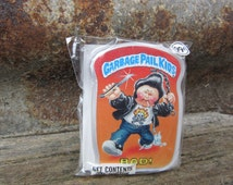 Vintage Garbage Pail BAD! vtg gpk Card Button Pin Back Plastic Card Topps 1986 Unopened Gag Gift Party 80s GPK Collectible 1980s vtg
