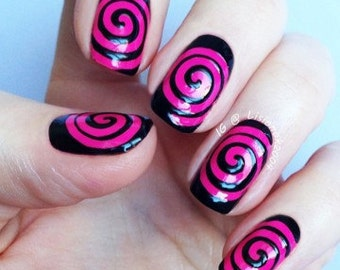 Spiral Cyclone Swirl Nail Vinyls