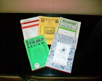Vintage Stamp Collectors Paper Ephemera Marconi's Stamp Review Stamp Collectors Magazine 1927 1934 1937 1950