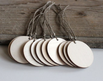 Wooden Tags / Pack of 100 Tags / Gift Tags / Round Wood Tags / Circle Wooden Labels