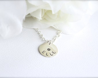 Girls Sterling Silver Personalized Necklace, Little Girl Jewelry Gift, Birthday, Flower Girl Gift, Present for Child -FREE Gift Packaging