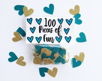 Party Confetti, Teal and Gold, Teal and Gold wedding, Teal and gold shower, Teal and Gold Party, Teal and gold decor, Teal and Gold confetti