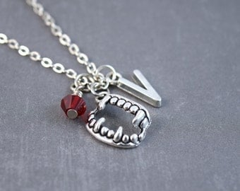 Vampire Teeth Necklace - Personalized Necklace - Gothic Vampire Jewelry - Teeth Necklace - Vampire Necklace - Teeth Jewelry
