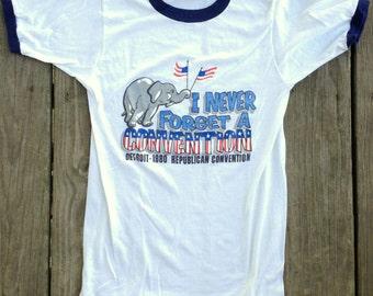 vintage REPUBLICAN CONVENTION Souvenir Shirt - 1980 - Size Small