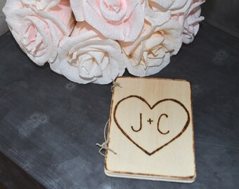 Wedding Vow Books, Set of Two Rustic Vow Books