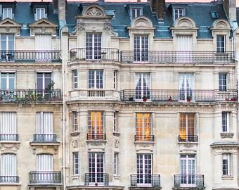 Paris Photography, Sunset, Ile de la Cite, Architecture Fine Art Photograph, French Decor, Large Wall Art