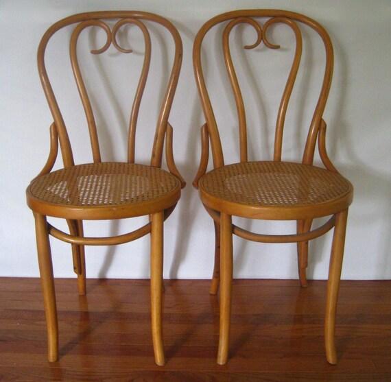 Reserved For Shauna 2 Vintage Bentwood Cane Seat Cafe Bistro
