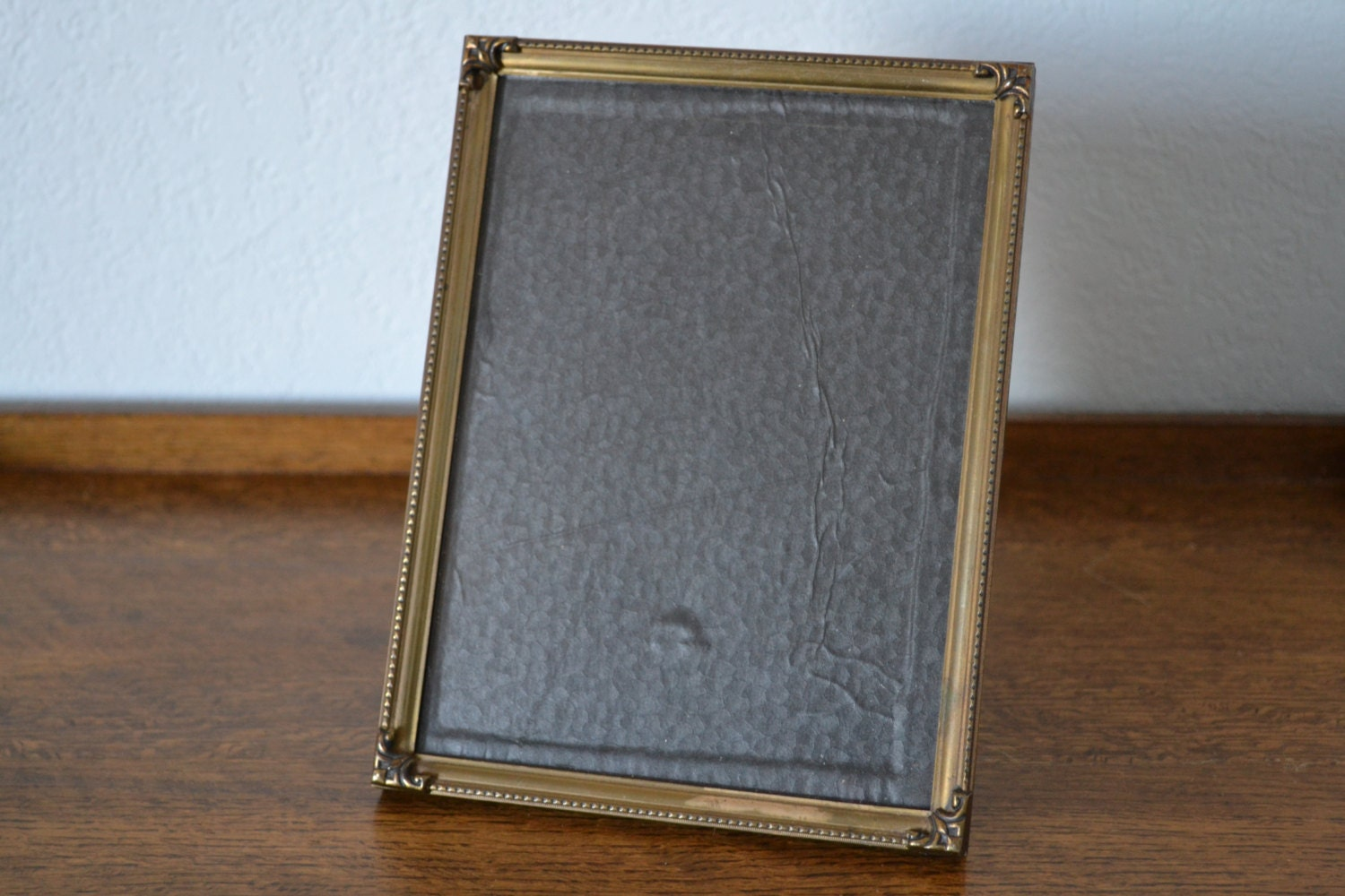 antique brass picture frame 6x8 vintage metal frame lovely