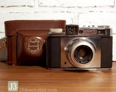 Vintage Wittnauer Legionnaire 35 mm Camera Made in West Germany with Brown Leather Caring Case - PRICE REDUCED