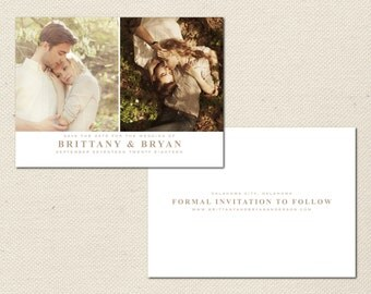 Save the Date Photography Template - 0007 - Photoshop Template