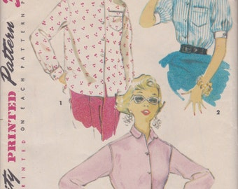 1950s Classic Blouse Pattern Simplicity 4854 Size 14