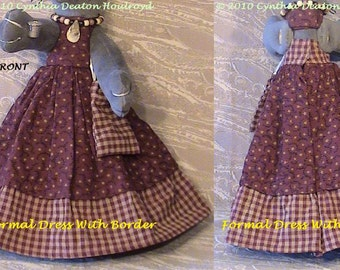 "PART #2 Option H - Formal Dress With Border [No Ruffle] And Purse - CDH ""Three Blind Mice..."""