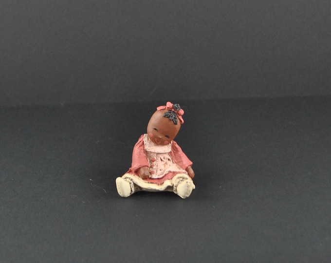 Vintage Miss Martha Holcombe, All God's Children, Lindy The Doll, 1990's, Member's Only, Rare Figurine, Club Piece, Handcrafted, Knick Knack