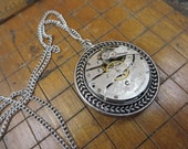 Steampunk Necklace made with a Molly Stark Watch Movement.  #797
