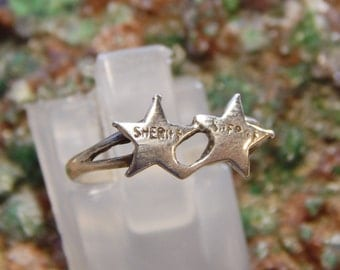 Sterling Sheriff Badge Ring