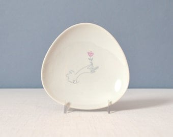 Vintage Rosenthal Pin Dish - Hand and Rose