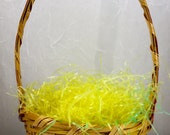 RESERVED for BETH Vintage  Mini Easter Basket Made in Mexico Classic Small Easter Basket