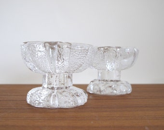 Scandinavian Crystal Candle Holders