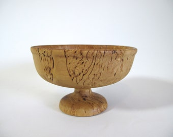Turned Olive Wood Compote Bowl