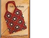 No.334 Crochet Bag Pattern Vintage PDF - Granny Square Tote Bag - Purse or Shopping Bag Pattern - Retro Crochet Pattern