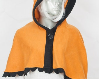 Orange Fox Capelet - Hood and Tail, Clothing, Winter Wear, Accessory