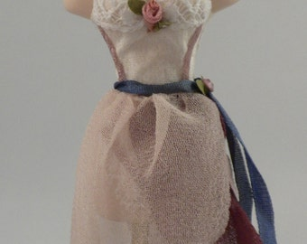 Dressed Porcelain Mannequin - One Inch Scale Dollhouse Miniature