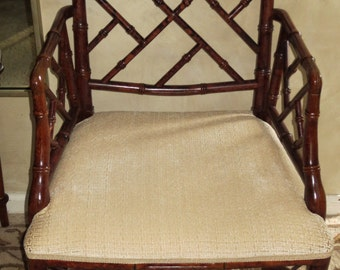 Chinese chippendale faux bamboo Armchair - Local pick up