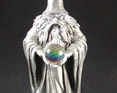 5 Inch Wizard with Crystal Ball Perth Pewter 1980 Ray Lamb Signed FA 53 MINT