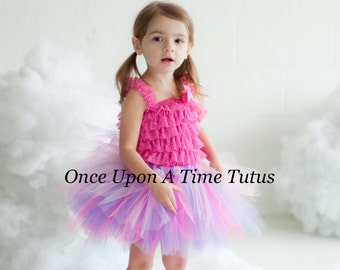 Spring Princess Pink Purple Tutu - All Sizes - Newborn 3 6 9 12 Months 2t 3t 4t 5t 6 7 8 10 12 14 Adult - Birthday, Halloween Costume